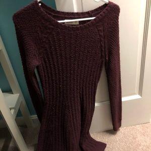 maroon sweater dress